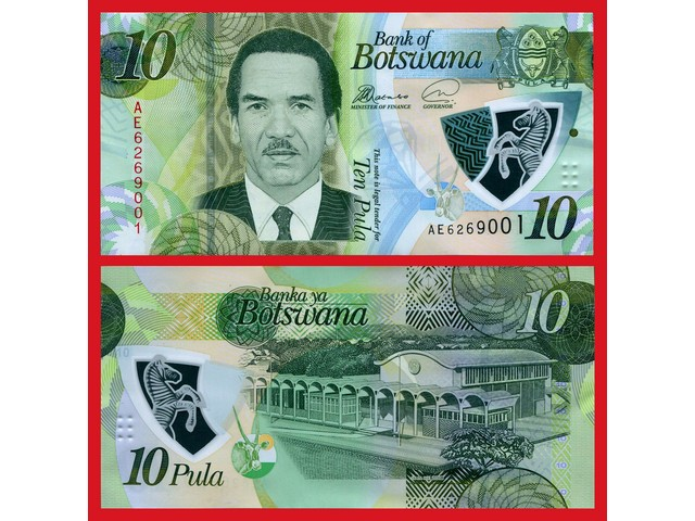 BOTSWANA 10 PULA UNC POLYMER # 490
